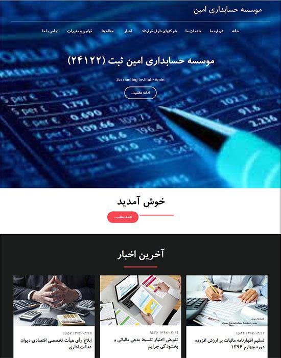 طراحی سایت حسابداری امین