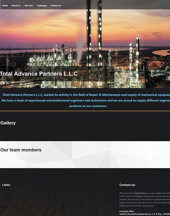 طراحی سایت توتال ادونس