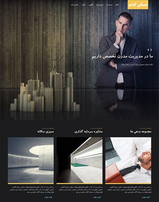 وب سایت مسکن و آژانس املاک